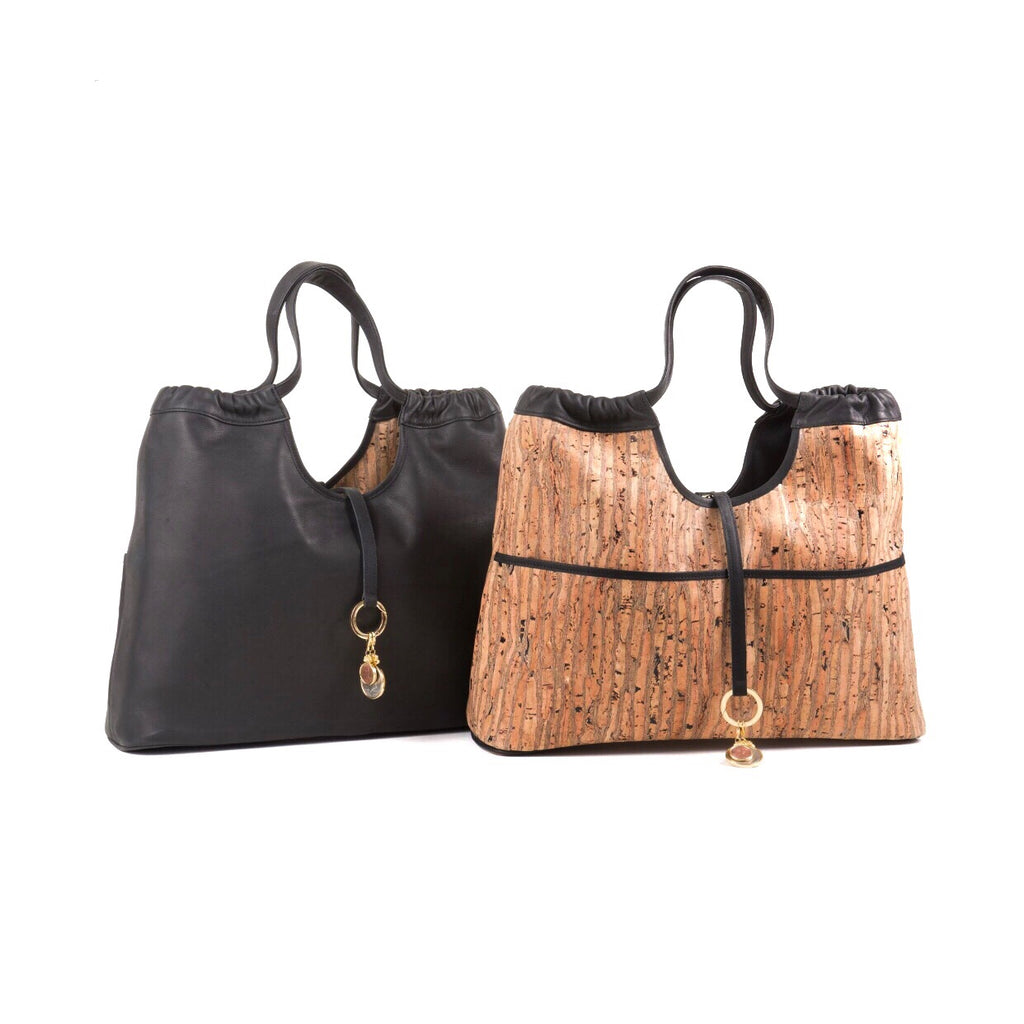 Reversible Vagabond Bag- Black/Cork