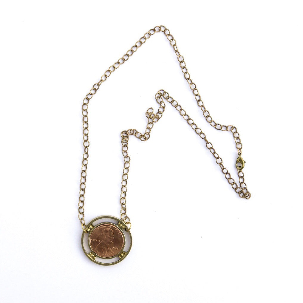 Penny Charm Necklace