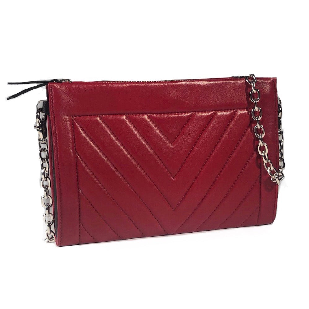 Gamechanger Classic V Red Lambskin 5-in-1 Convertible Crossbody