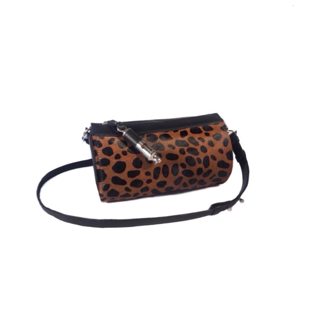 Gamechanger Barrel Dark Cheetah 5-In-1 Convertible Handbag