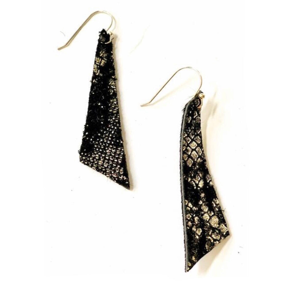 Black Metallic Diamond Earring