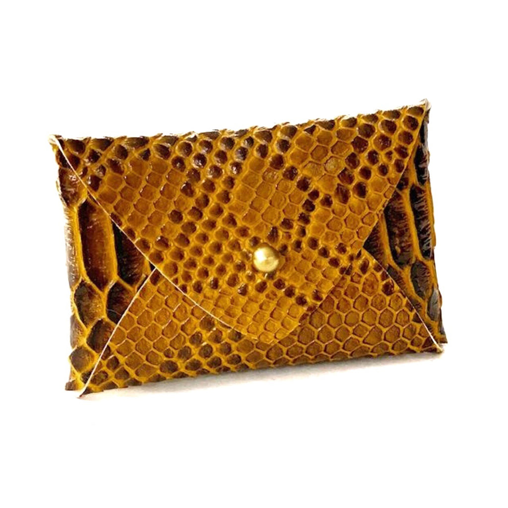 Mighty Mini Wallet - Bronze Snakeskin