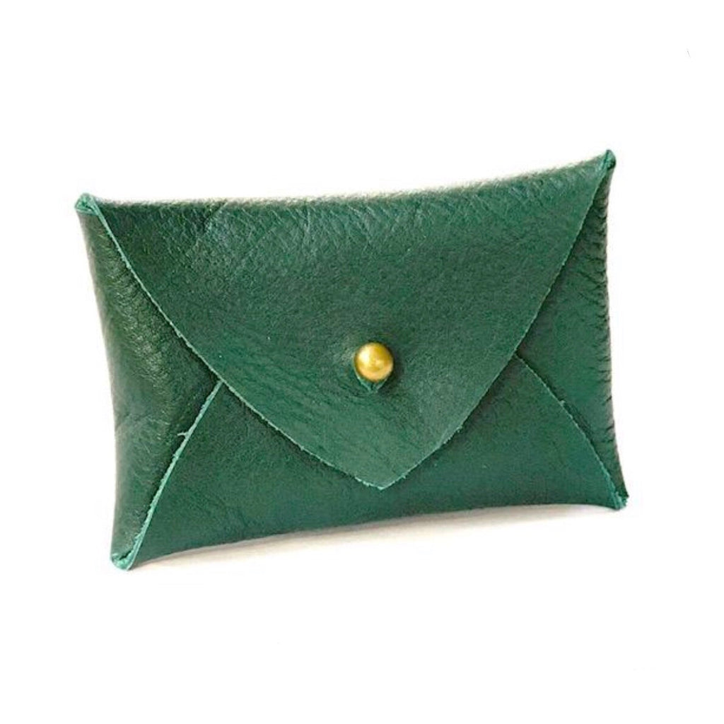 Mighty Mini Wallet - Green Lambskin