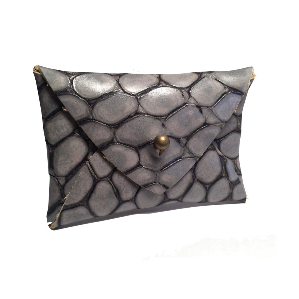 Mighty Mini Wallet - Gray Crocodile