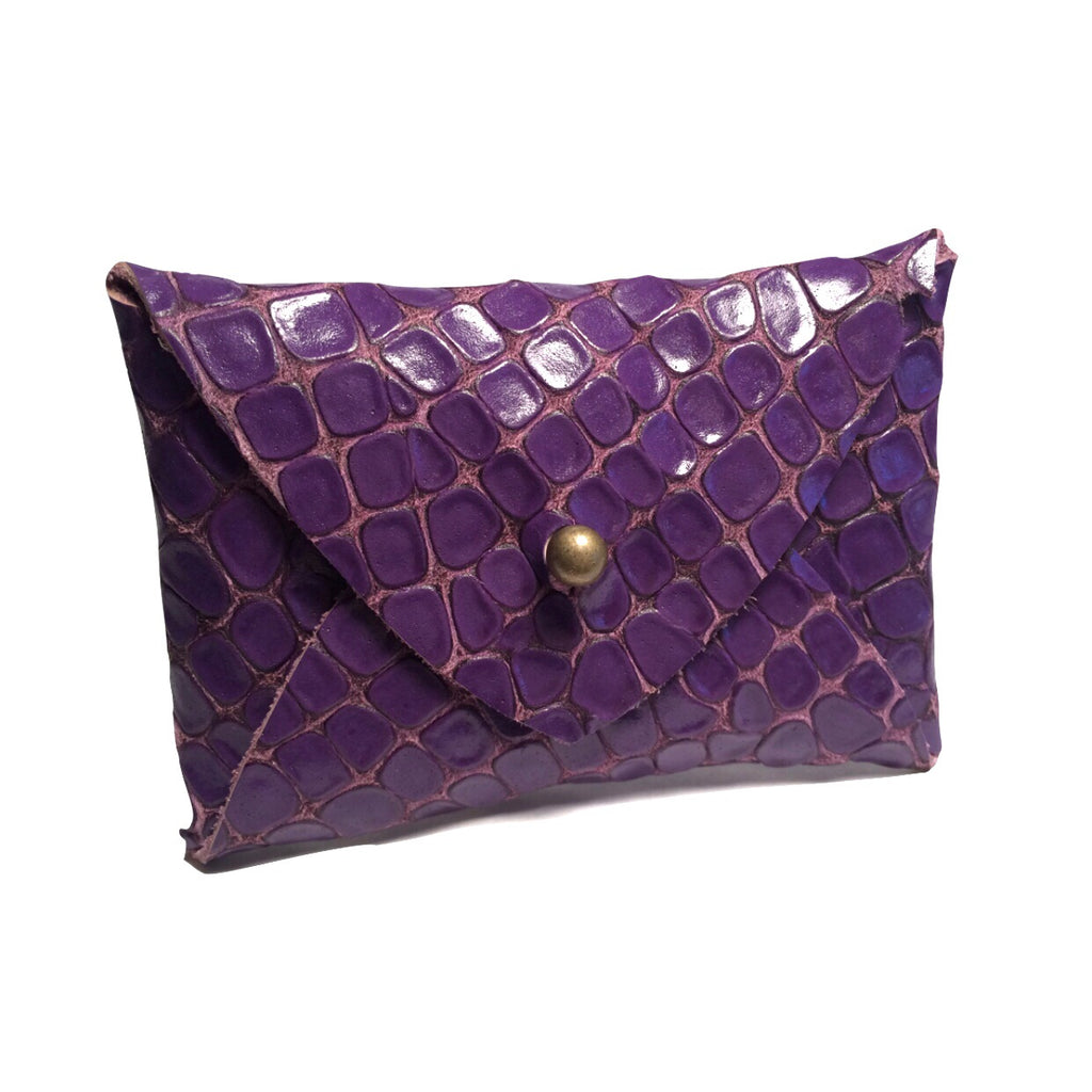 Mighty Mini Wallet - Purple Crocodile