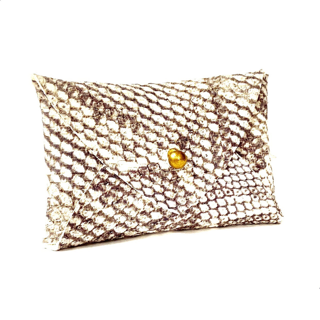 Mighty Mini Wallet - Natural Snakeskin