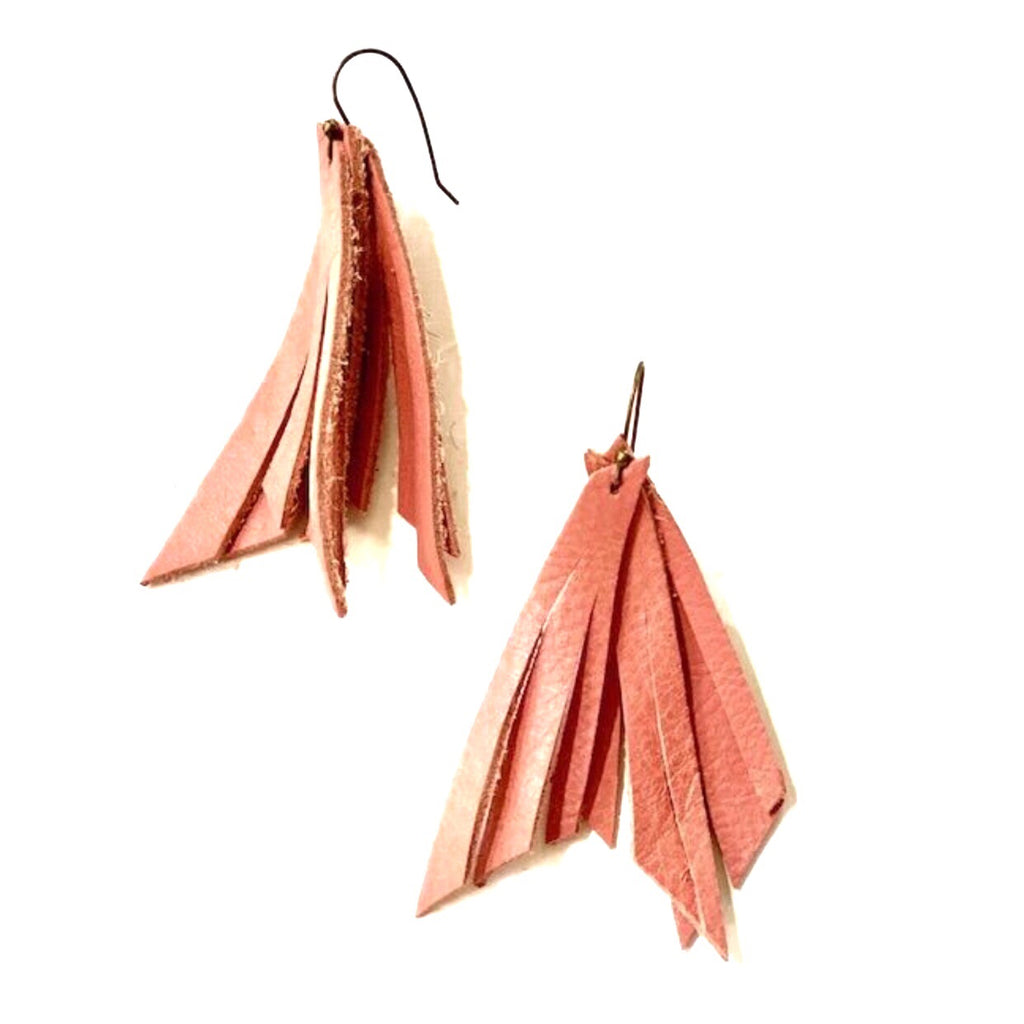 Flamingo Pink Feather Earring