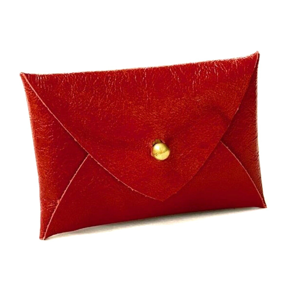 Mighty Mini Wallet - Red Lambskin