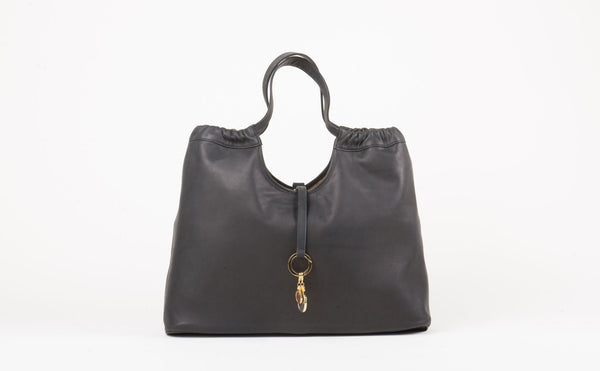 Black and Cork Reversible Vagabond Bag