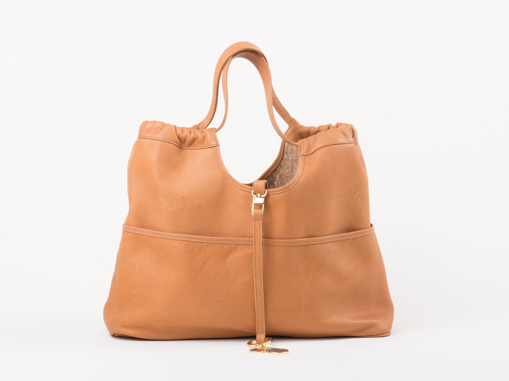 Reversible Vagabond Bag- Tan/Cork