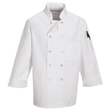 Pearl Button Chef Coat