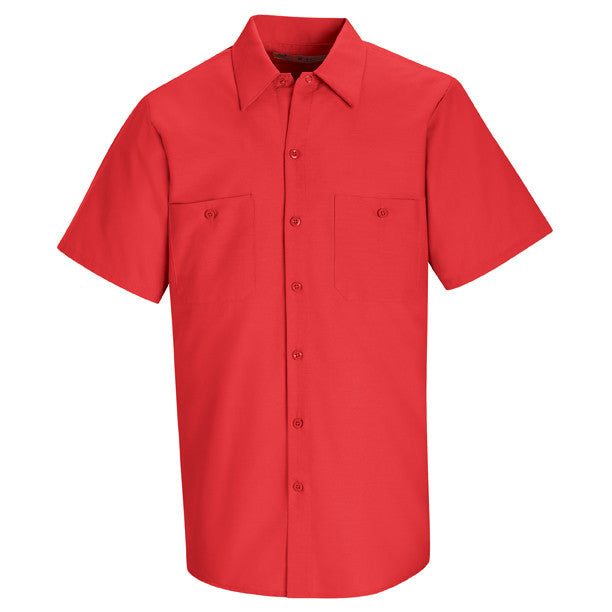 Red Short Sleeve Work Shirt
