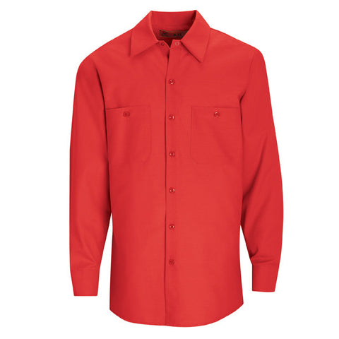 Red Long Sleeve Work Shirt