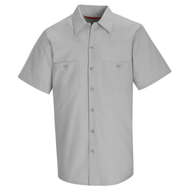 Gray Short Sleeve Work Shirt