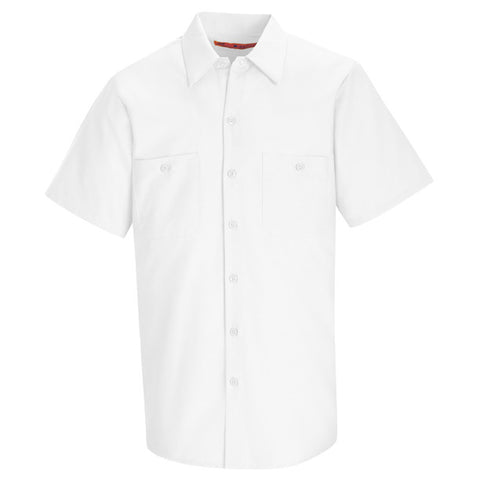 Short Sleeve Work Shirt - White