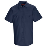 Navy Short Sleeve Work Shirt