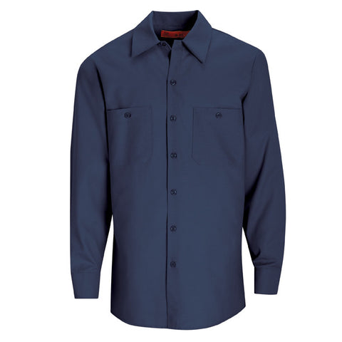 Navy Long Sleeve Work Shirt