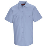Light Blue Short Sleeve Work Shirt