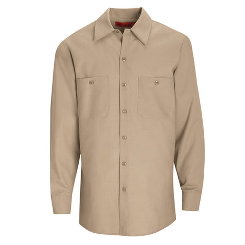 Light Tan Long Sleeve Work Shirt