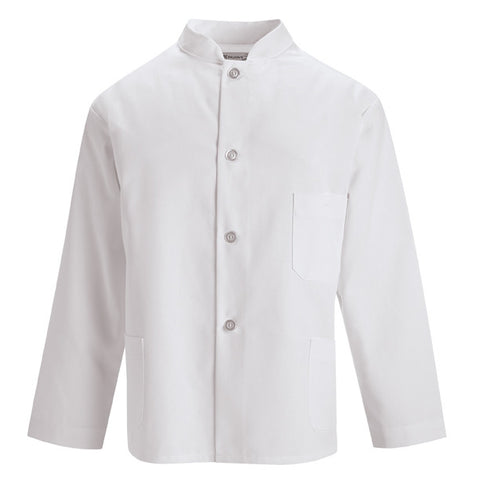 European Plastic Button Chef Coat