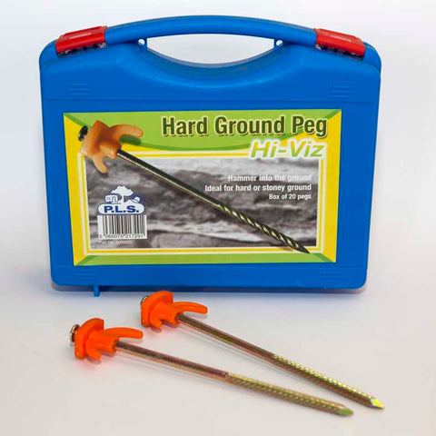 HI-VIZ HARD GROUND PEGS (20)