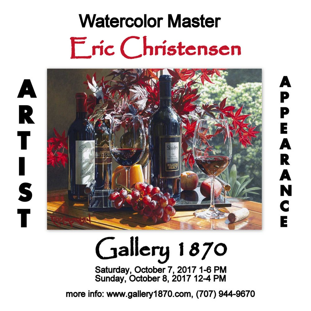 Eric Christensen Artist Appearance this Saturday and Sunday at Gallery 1870