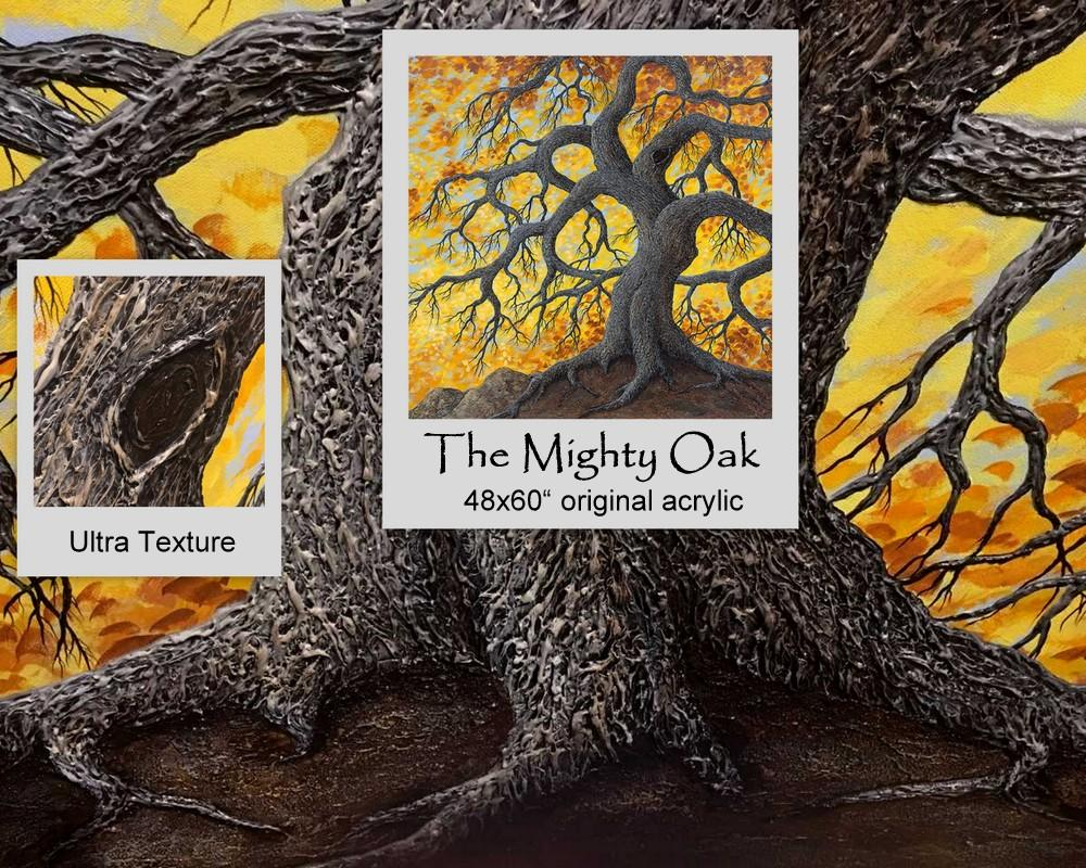 "ART SPOTLIGHT - The Mighty Oak 48x60"" original acrylic by Patrick O'Rourke"
