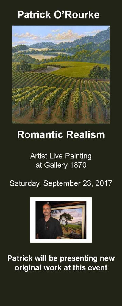 Patrick O'Rourke painting live at Gallery 1870 on Saturday, September 23