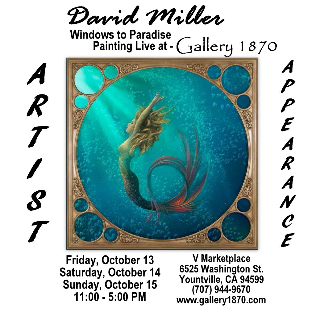David Miller - Painting Live at Gallery 1870 - Friday - Sunday - October 13th - 15th