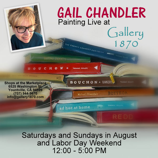 Gail Chandler Painting Live at Gallery 1870 August - September 2019