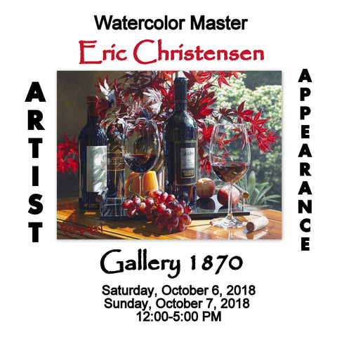 Eric Christensen Show - October 6th and 7th 2018 at Gallery 1870