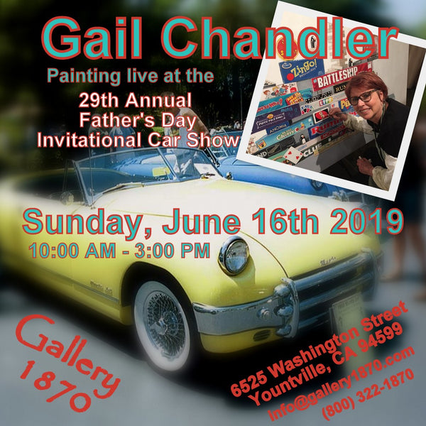 Gail Chandler Painting Live at the 29th Annual Father's Day Car Show