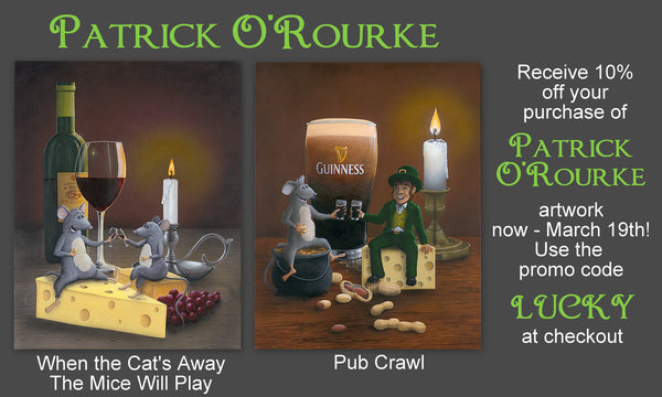 Artwork by Patrick O'Rourke - special 10% off now through March 19th 2017