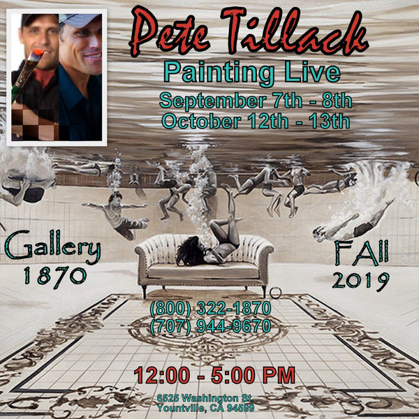Pete Tillack Shows Fall 2019 at Gallery 1870 in Yountville