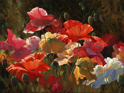 Poppies in Sunshine by Leon Roulette available at Gallery 1870