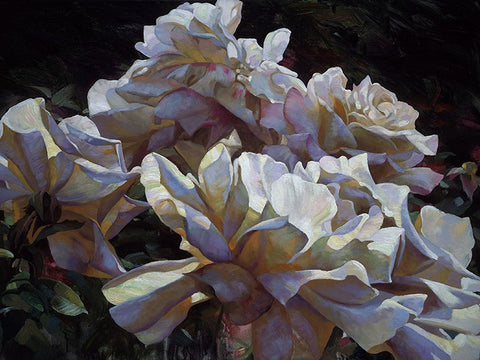 White Roses by Leon Roulette available at Gallery 1870