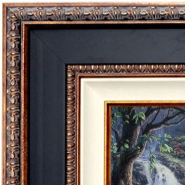 Black Large Tuscan Wood Frame