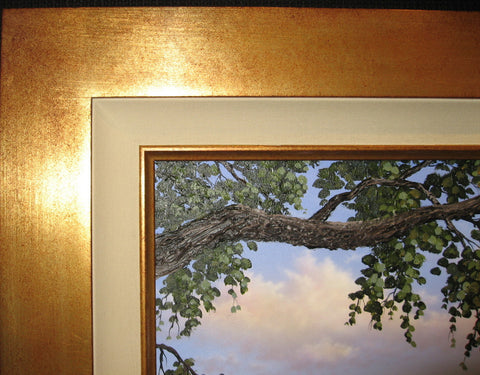 Brushed Gold, copper,or Silver Contempory frame