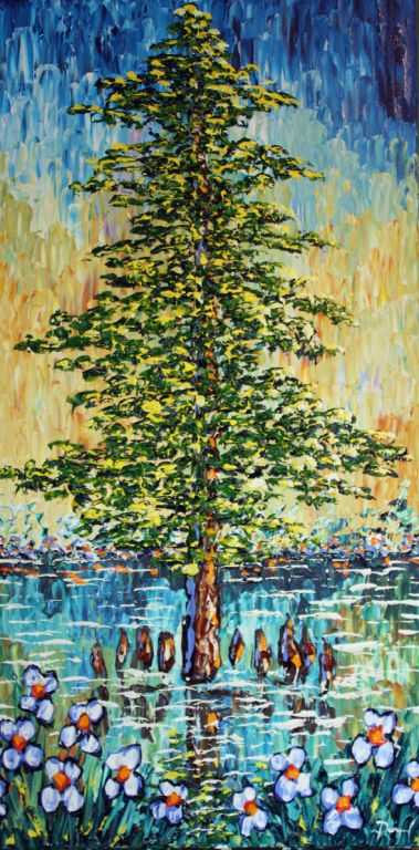 Strong Cypress on the Waters Original 40x20""