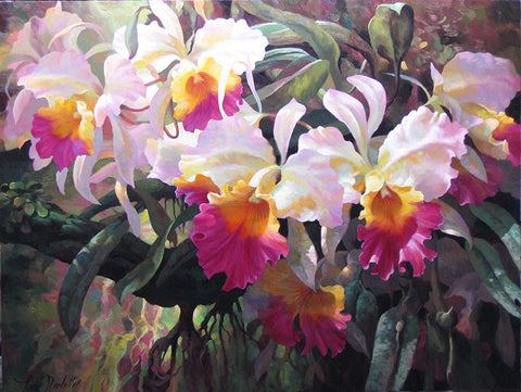 Cattleya Magnificent - canvas print