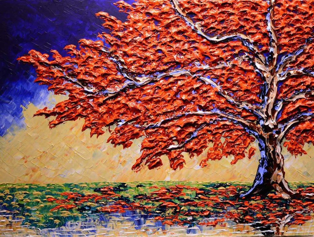 "Bright Maple of Calm Waters 30x40"" original"