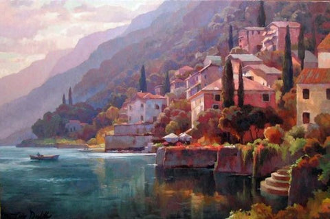A Day at Lake Como - Original