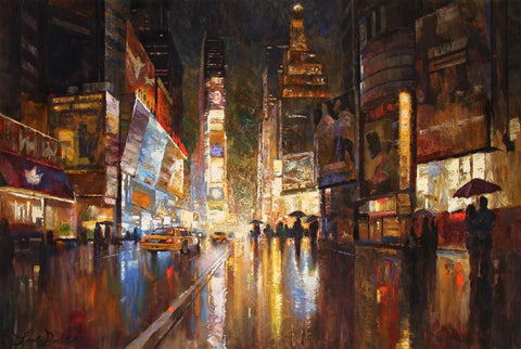 A Night in Times Square - Canvas Print
