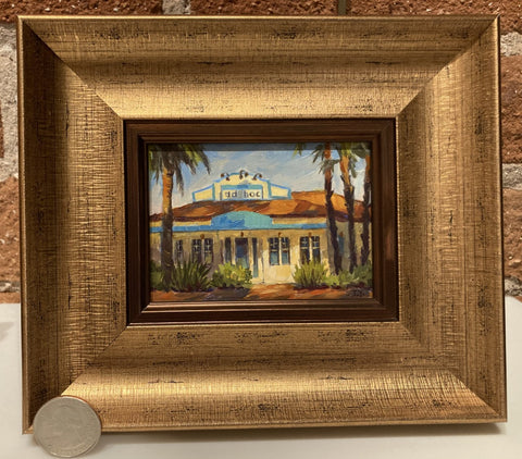 "Ad Hoc Restaurant 3 X 4"" miniature original"