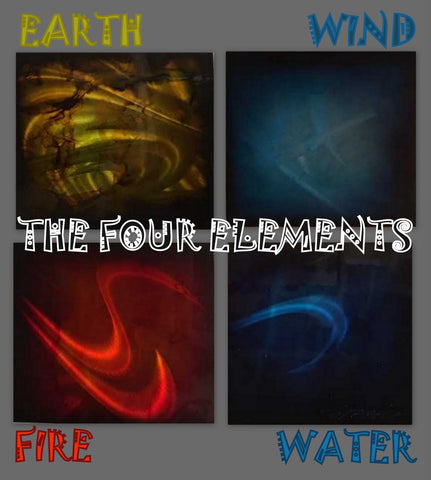 Elements 4 Piece Abstract original