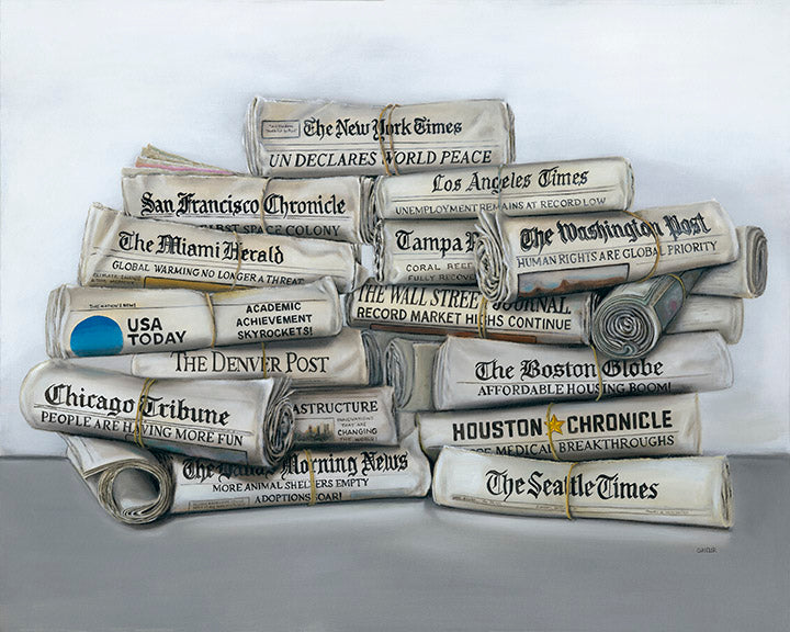 "All the News that's Fit to Print - 30x40"" Original Oil on Canvas"