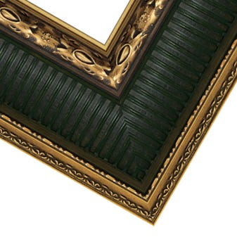 Antique Gold with Spruce Green Custom Wood Frame available at Gallery 1870