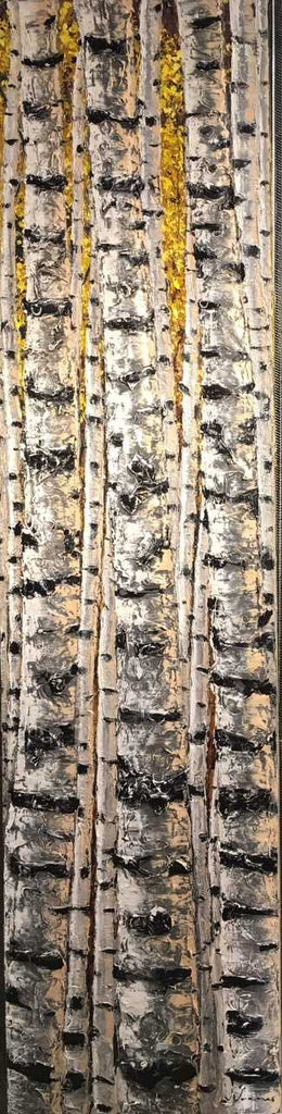 "Aspen Giants 72x18"" original by Jennifer Vranes"