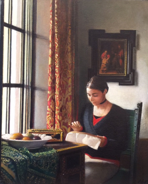 Audrey at Her Needlepoint by Ashot
