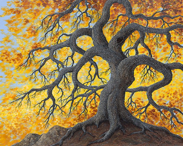 "Autumn Oaks - 48x60"" original acrylic"